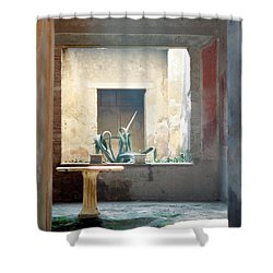 Pompeii Courtyard Shower Curtain by Marna Edwards Flavell