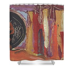 Pompeii Postcard Shower Curtain