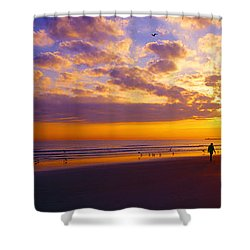Ponce Inlet Fl Sunrise  Shower Curtain