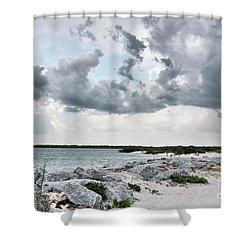 Ponce Inlet Mood Shower Curtain by Deborah Benoit