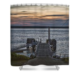 Shower Curtain featuring the photograph Ponce Landing by Richard Bean
