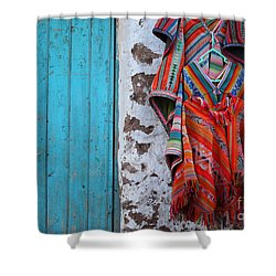 Ponchos For Sale Shower Curtain by James Brunker