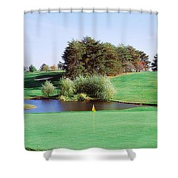 Pond At A Golf Course Baltimore Shower Curtain