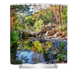 Pond At Lost Maples Shower Curtain