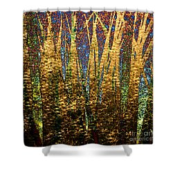 Shower Curtain featuring the photograph Pond Grass-1 by Darla Wood