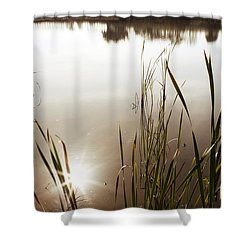 Pond Shower Curtain by Les Cunliffe