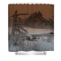 Shower Curtain featuring the photograph Pond Scape by Mim White