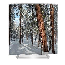 Ponderosa Winter Shower Curtain