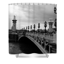 Shower Curtain featuring the photograph Pont Alexander by Lisa Parrish