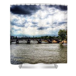 Pont Des Arts Shower Curtain by Allan Piper