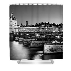 Shower Curtain featuring the photograph Pont Des Arts And Institut De France / Paris by Barry O Carroll
