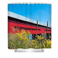 Shower Curtain featuring the photograph Pont Marchand by Bianca Nadeau