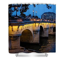 Pont Neuf Bridge - Paris France Shower Curtain
