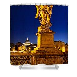 Ponte Sant Angelo Shower Curtain by Brian Jannsen