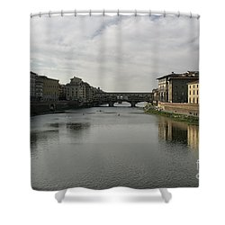 Ponte Vecchio Shower Curtain by Belinda Greb