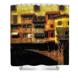 Ponte Vecchio Firenze Shower Curtain by Mike Nellums