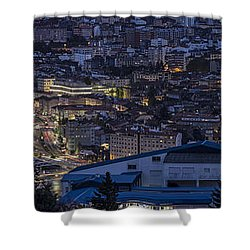 Shower Curtain featuring the photograph Pontevedra Panorama From A Caeira by Pablo Avanzini
