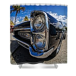 Pontiac Gto Convertible Ft Myers Beach Florida Shower Curtain by Edward Fielding