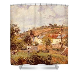 Pontoise Shower Curtain by Camille Pissarro