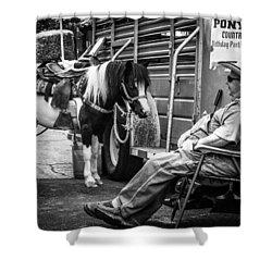 Pony Ride Shower Curtain