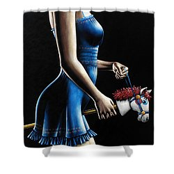 Ponygirl Shower Curtain