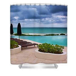 Shower Curtain featuring the photograph Pool At Rosewood Mayakoba by Teresa Zieba