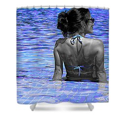 Pool Shower Curtain by J Anthony