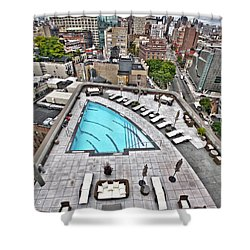Pool With A View Shower Curtain by Steve Sahm