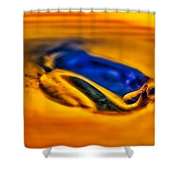 Pools Of Color Shower Curtain by Omaste Witkowski