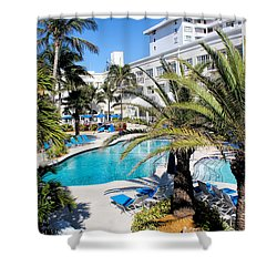 Poolside 01 Shower Curtain