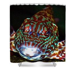 Poopaa Hawaiian Hawk Fish Shower Curtain by Lehua Pekelo-Stearns