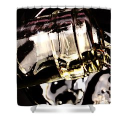 Pooring White Wine Shower Curtain by Tommytechno Sweden
