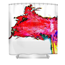 Pop Art Mousetrap Shower Curtain