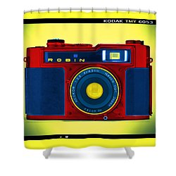 Pop Art Robin Shower Curtain by Mike McGlothlen