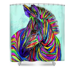 Pop Art Zebra Shower Curtain by Jane Schnetlage