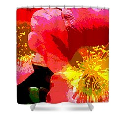 Pop Goes The Poppy Shower Curtain by Sally Simon