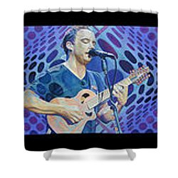 Shower Curtain featuring the drawing Pop-op Full Band by Joshua Morton