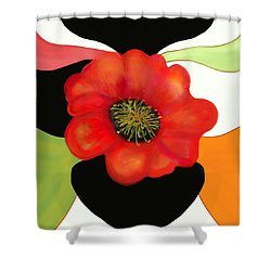 Pop Poppy Shower Curtain by Christine Fournier
