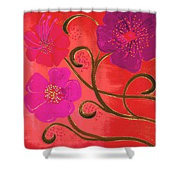 Pop Spring Purple Flowers Shower Curtain