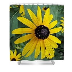 Pop Yellow Shower Curtain