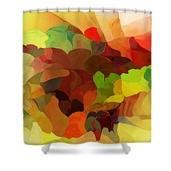 Popago Shower Curtain by David Lane