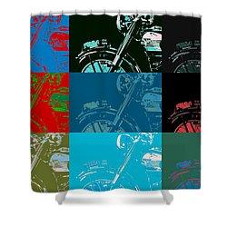Popart Motorbike Shower Curtain