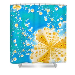 Popcorn Galaxy Shower Curtain by Anastasiya Malakhova