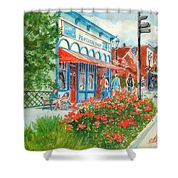 Popcorn Shop In Summer/chagrin Falls Shower Curtain