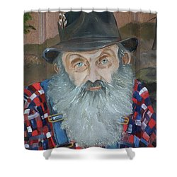 Popcorn Sutton - Moonshiner - Portrait Shower Curtain