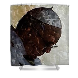 Pope Francis Inauguration Vatican 19 February 2013  Shower Curtain by Colette V Hera  Guggenheim
