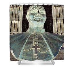 Pope John Paul The Second Shower Curtain by Ed Weidman