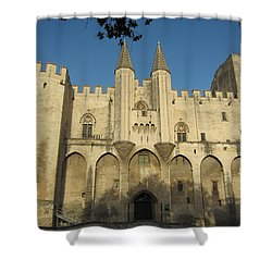 Popes Palace In Avignon Shower Curtain by Pema Hou
