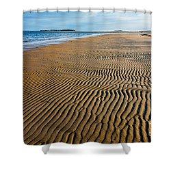 Popham Beach Shower Curtain by Susan Cole Kelly