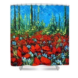 Poppie Field Shower Curtain